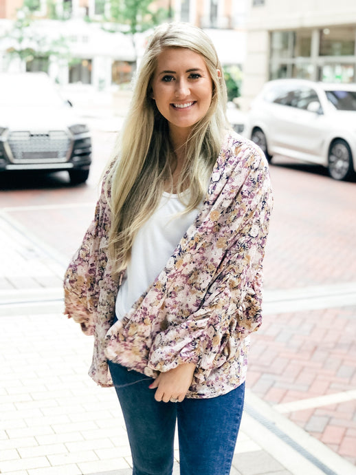 Floral Fever Jacket-Liz + Lee Boutique