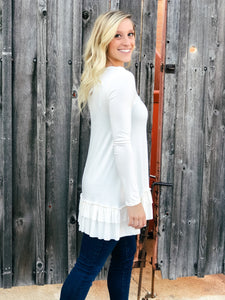 Go With The Flow Top - White-Liz + Lee Boutique