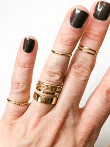 Gold Stacking Ring Set-Liz + Lee Boutique