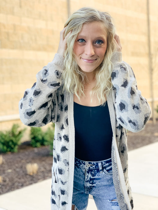 Hear Me Roar Lightweight Leopard Cardigan-Liz + Lee Boutique