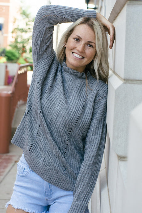 Here With Me Sweater-Liz + Lee Boutique