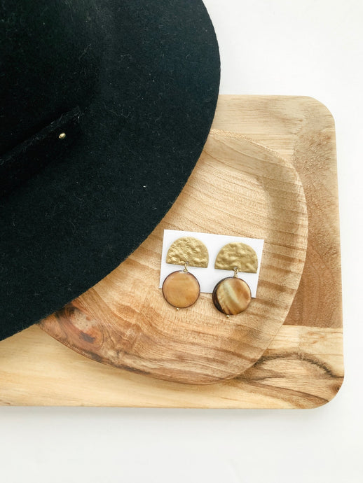 Jade Gold Earrings-Liz + Lee Boutique