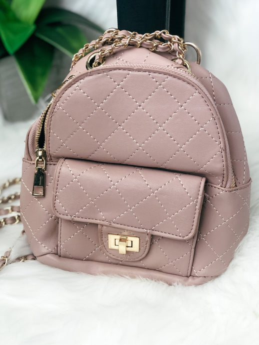 Leather Quilted Back Pack-Liz + Lee Boutique
