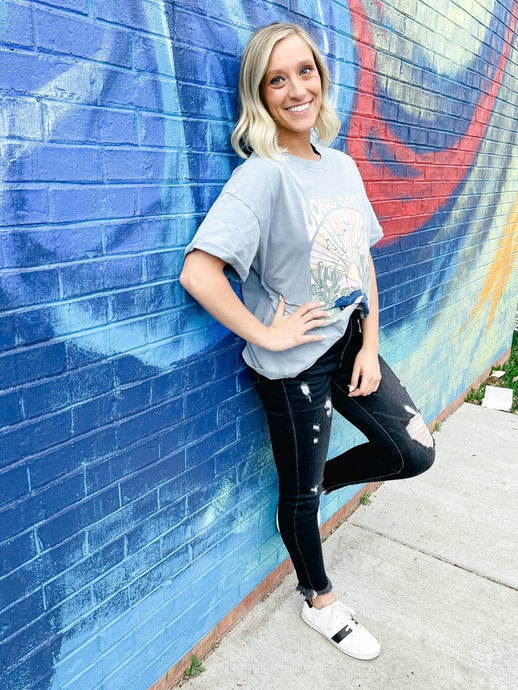 Long Days + Pleasant Nights Graphic Tee-Liz + Lee Boutique