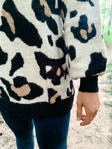 Love Me Leopard Pullover Sweater-Liz + Lee Boutique