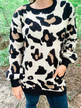 Load image into Gallery viewer, Love Me Leopard Pullover Sweater-Liz + Lee Boutique