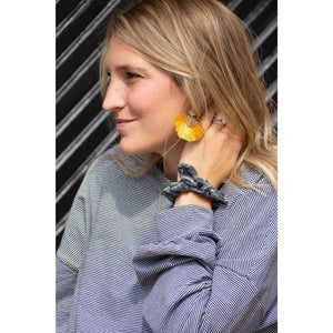 Mustard Tassel Earrings-Liz + Lee Boutique