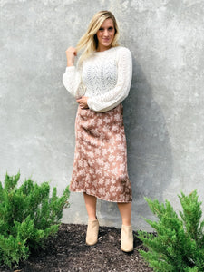 Muted Midi Skirt-Liz + Lee Boutique