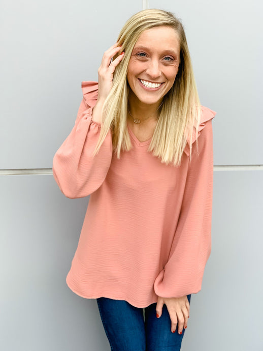 Play It Cool Bubble Sleeve Top - RESTOCK MAUVE-Liz + Lee Boutique