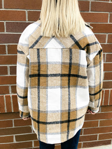 Poppy Plaid Flannel Shacket-Liz + Lee Boutique
