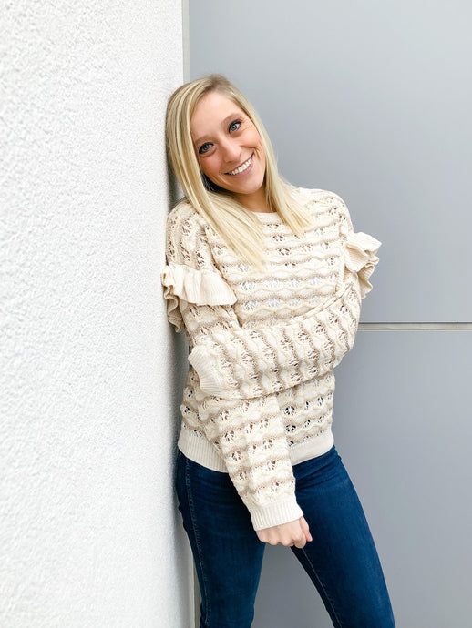 Rach Ripple Sweater-Liz + Lee Boutique