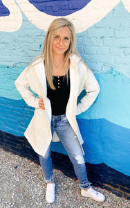 The Sporty Look Cardigan - RESTOCK OATMEAL-Liz + Lee Boutique