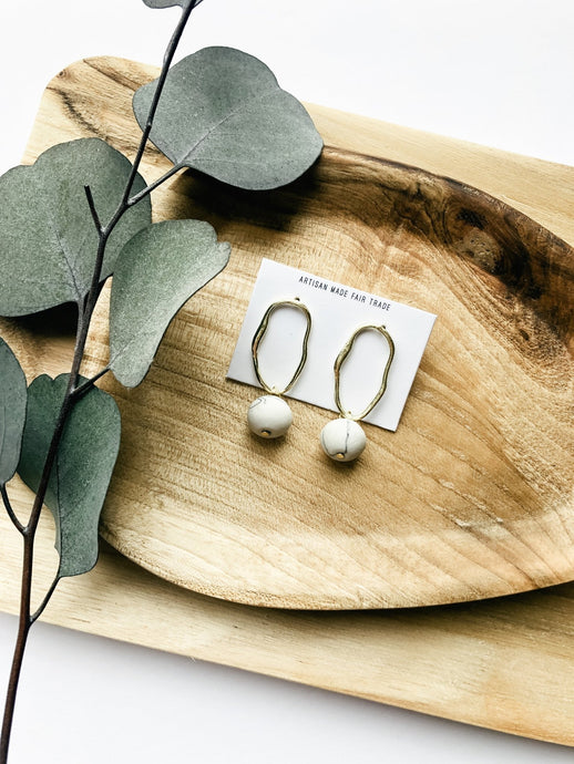 Val Fluid Marble Earrings-Liz + Lee Boutique