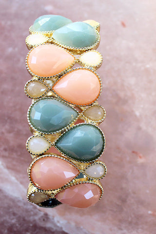 Peach Off the Cuff Bracelet