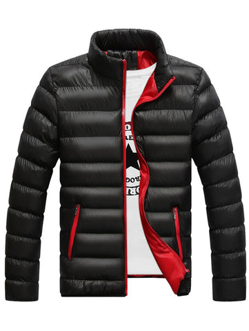 Men Warm Jacket Cotton Winter Padded Coat Classic Style 11048