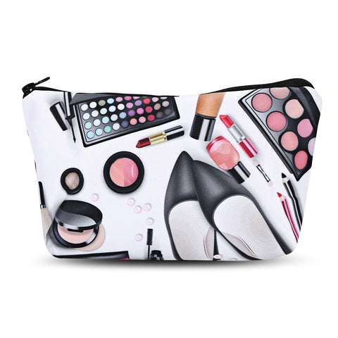 3D Cosmetics Print Clutch Makeup Bag 11257