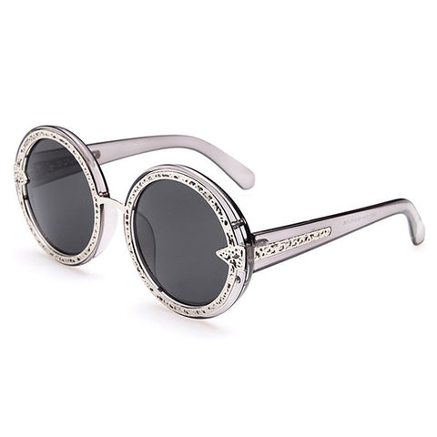 Chic Hollow Out Alloy Splice Leopard Sunglasses For Women 11710