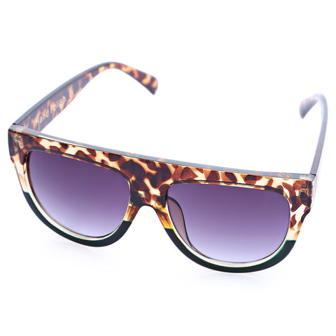 Old Classical Rivet Shades Oversize Women Kitten Sunglasses 11755