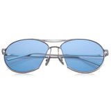 Old Classical Simple Design Irregular Metal Frame Sunglasses for Unisex 11761