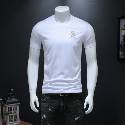 New Fashion  Skull  Fashion urban  slim fit T-Shirts T-Shirts 14490-np