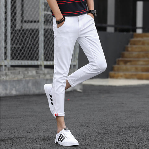 New Fashion  pure color  young  slim fit Casual Trousers Casual Trousers 14555-np