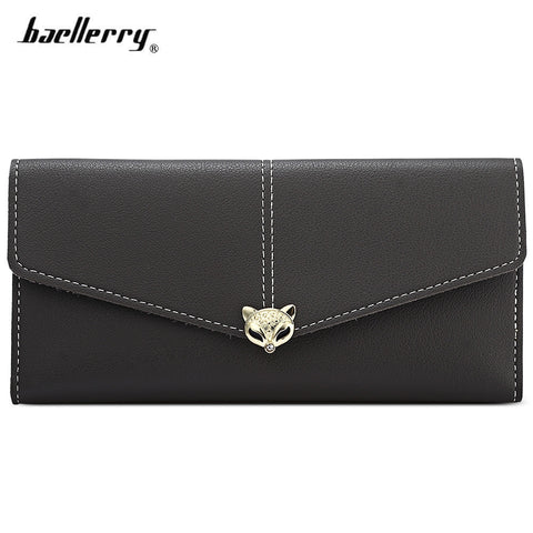 Baellerry Envelope Clutch Women Long Wallet PU Leather Purse Female Hasp Card Coin Holder 16169