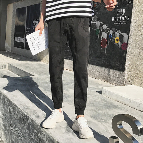 2019 Latest  Camouflage  young Fashion  loose Casual Trousers Casual Trousers