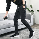 2019 Latest  pure color  Fashion  Shift Casual Trousers Casual Trousers