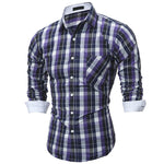 2019 latest hot men's casual long-sleeved shirt 17360