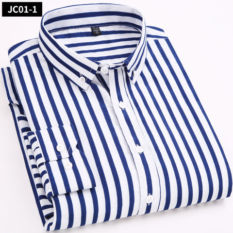 New Fashion  Stripe  Business Casual  slim fit Shirts Shirts 14591