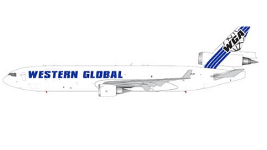 1:400 GEMINI JETS WESTERN GLOBAL MD-11F N799JN