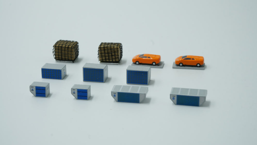 1:400 FANTASYWINGS DIECAST CARGO SET (12 PC)  (delayed with NO ETA)