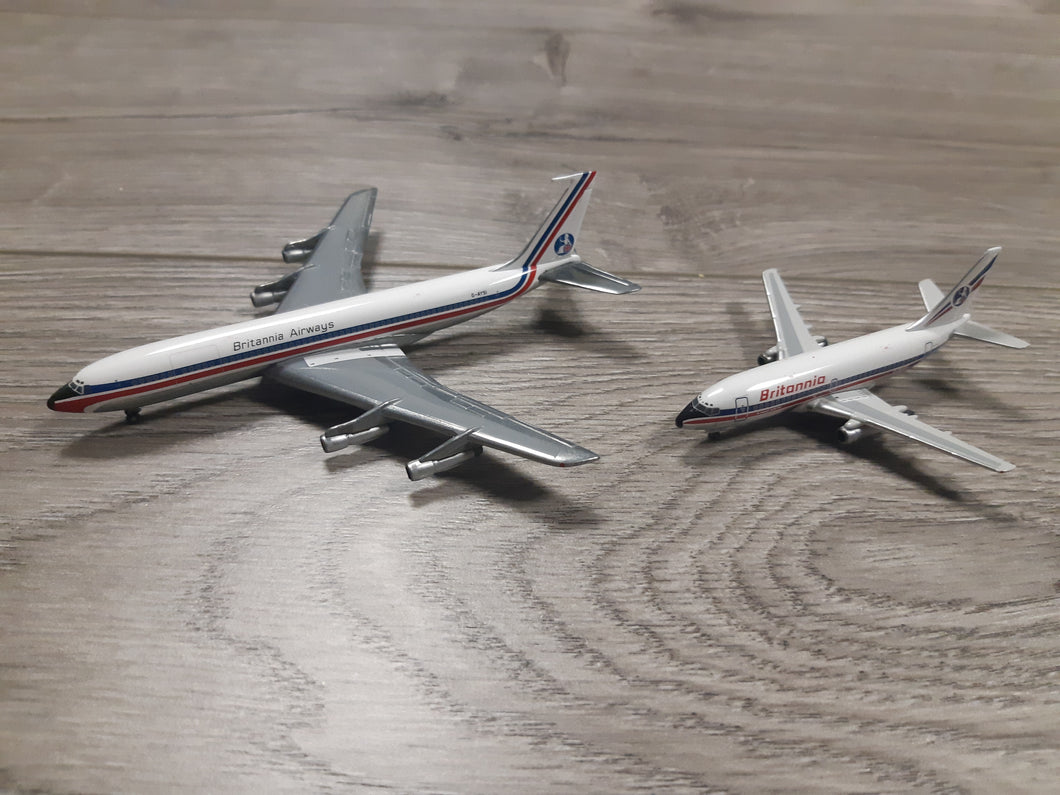 1:400 GEMINI BRITANNIA AIRWAYS B707 & B737-200 2 PACK