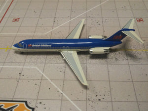 1:400 SEATTLE BRITISH MIDLAND DC-9 G-BMAK