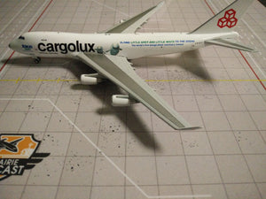 "1:400 JC WINGS CARGOLUX B747-400 LX-ECV ""SEA LIFE TRUST"""