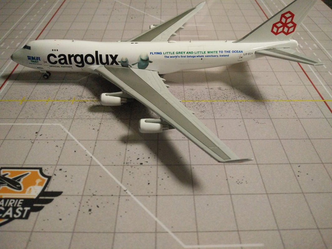 1:400 JC WINGS CARGOLUX B747-400 LX-ECV