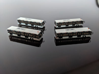 1:400 FANTASYWINGS SWISSPORT BUSSES GSE SET PACK OF 4
