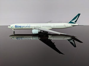 "1:400 JC CATHAY PACIFIC B777-300ER B-KQI ""ONE WORLD"" flaps down"