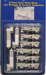 1:400 GEMINI JET BRIDGE DUAL WIDEBODY PACK OF 3