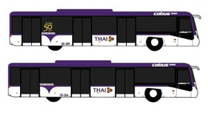 1:400 FANTASYWINGS THAI AIRWAYS AIRPORT BUS SET OF 4