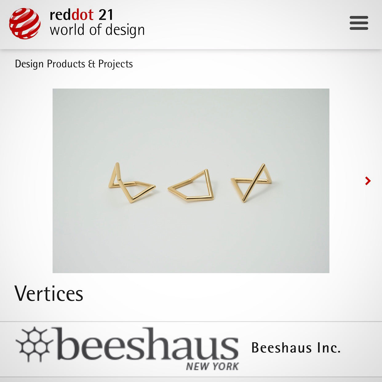 Vertices -Selected of Red Dot Design Award 2018