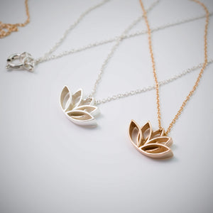 14k Lotus Necklace - beeshaus
