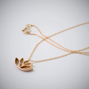 14k Gold Lotus Necklace - beeshaus