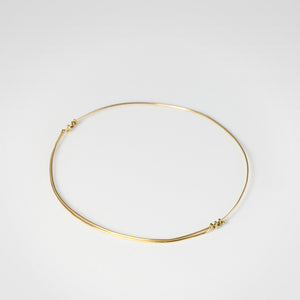 18K Gold Adjustable Bangle - beeshaus