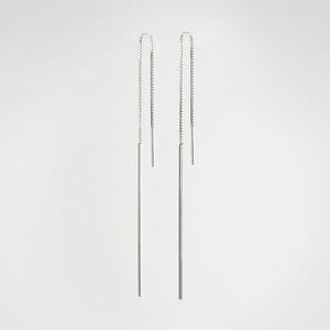 Bar Chain Long Earrings - beeshaus