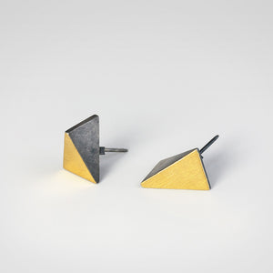 Triangle Oxidized Earrings - beeshaus