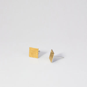 Thin Square Keum-boo Earrings - beeshaus