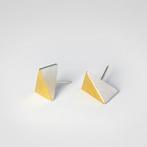 Triangle Keum-boo Earrings - beeshaus