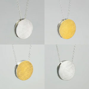 3456∞ / Double Faced Circle Necklace - beeshaus