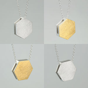3456∞ / Double Faced Hexagon Necklace - beeshaus